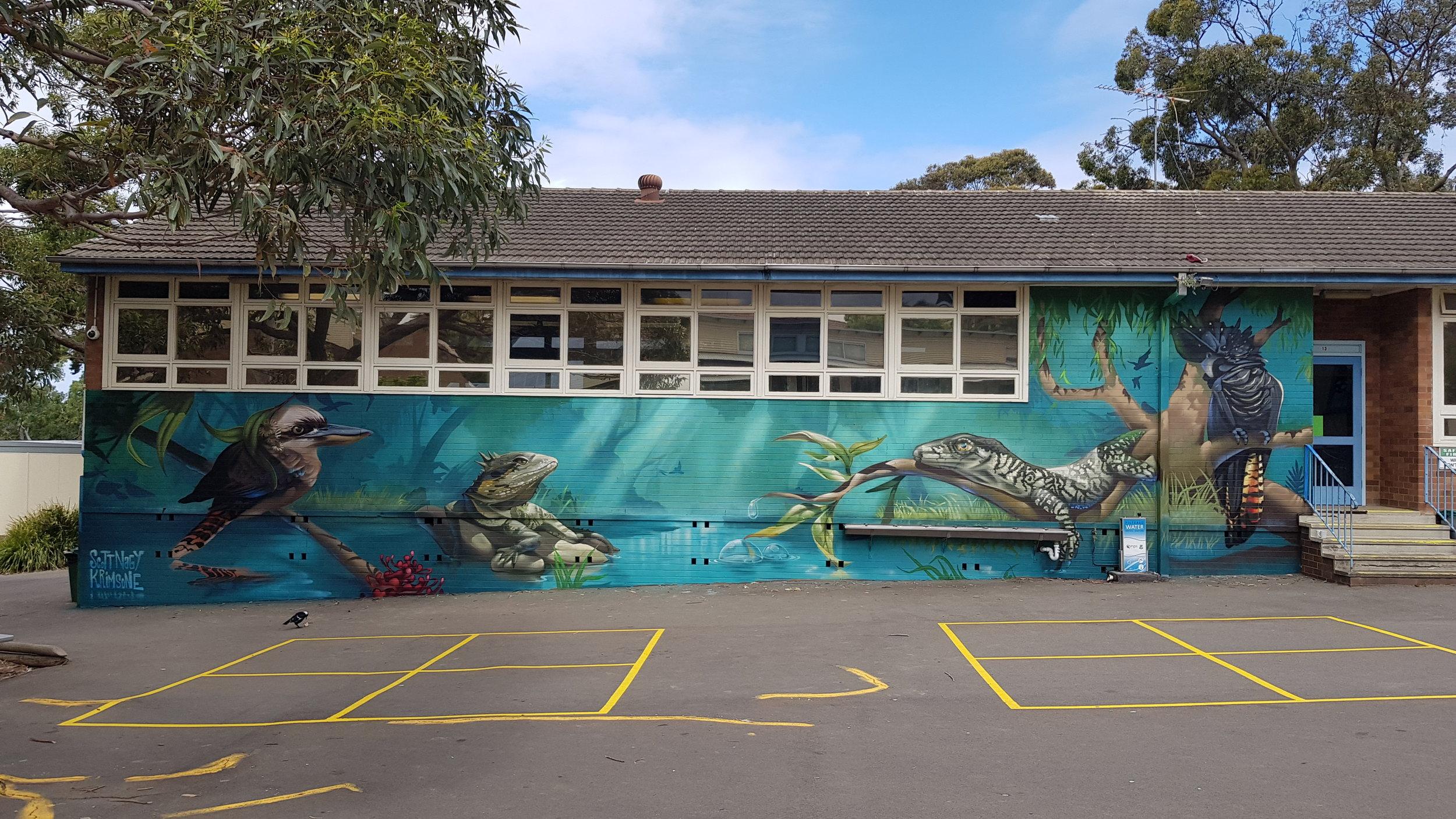 Bexley North public school library mural