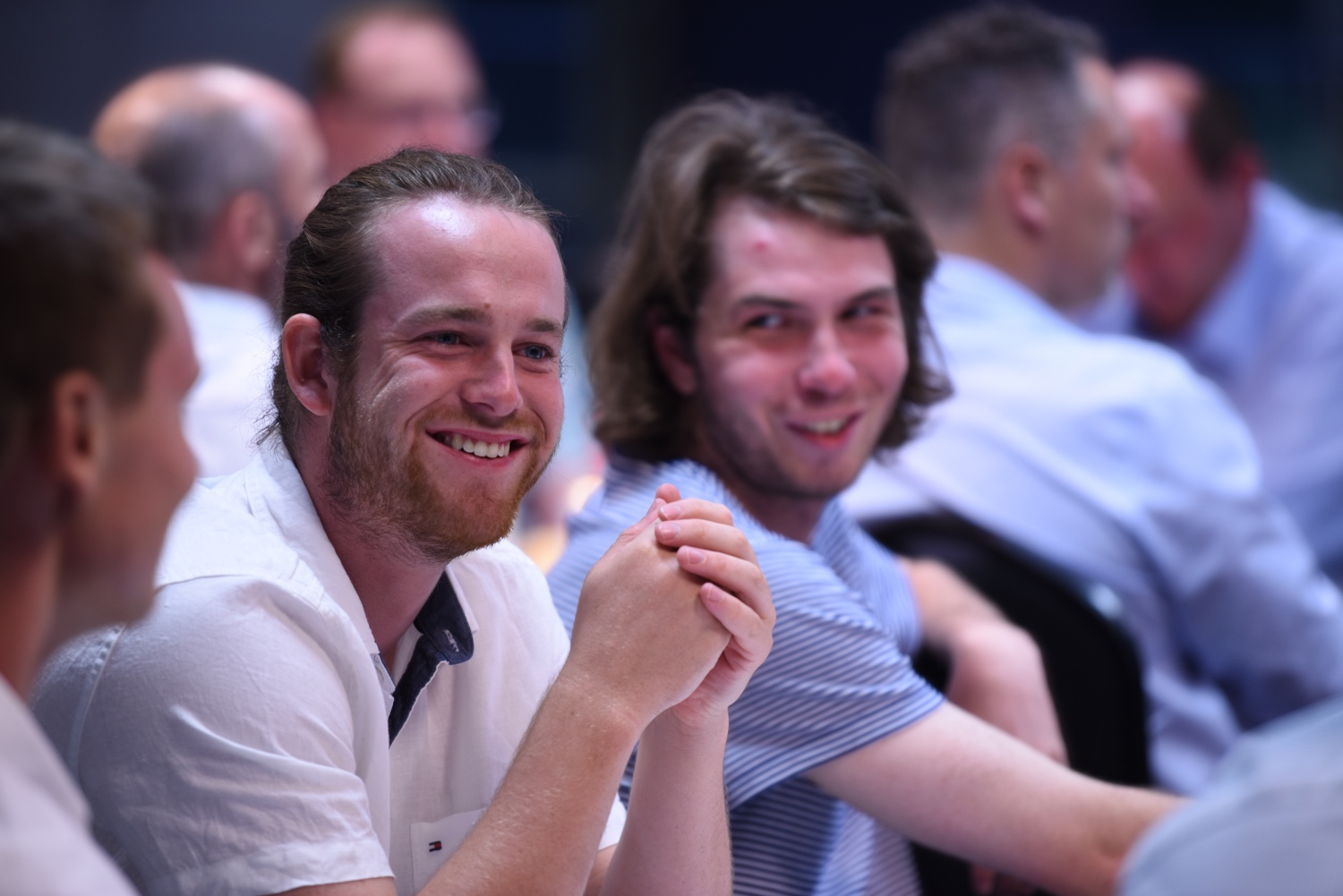 (L to R) Nick Watty and Lachlan Evans enjoying the night.