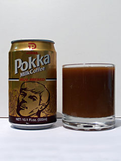Terrible Chin Man makes an appearance on the Pokka can.