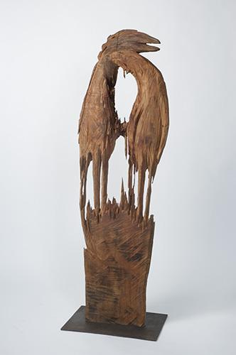 Zwei Vögel, Birne, 170x50x20 cm, 2005