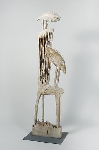 Stuhl, Holz patiniert, 180x30x60 cm, 2004