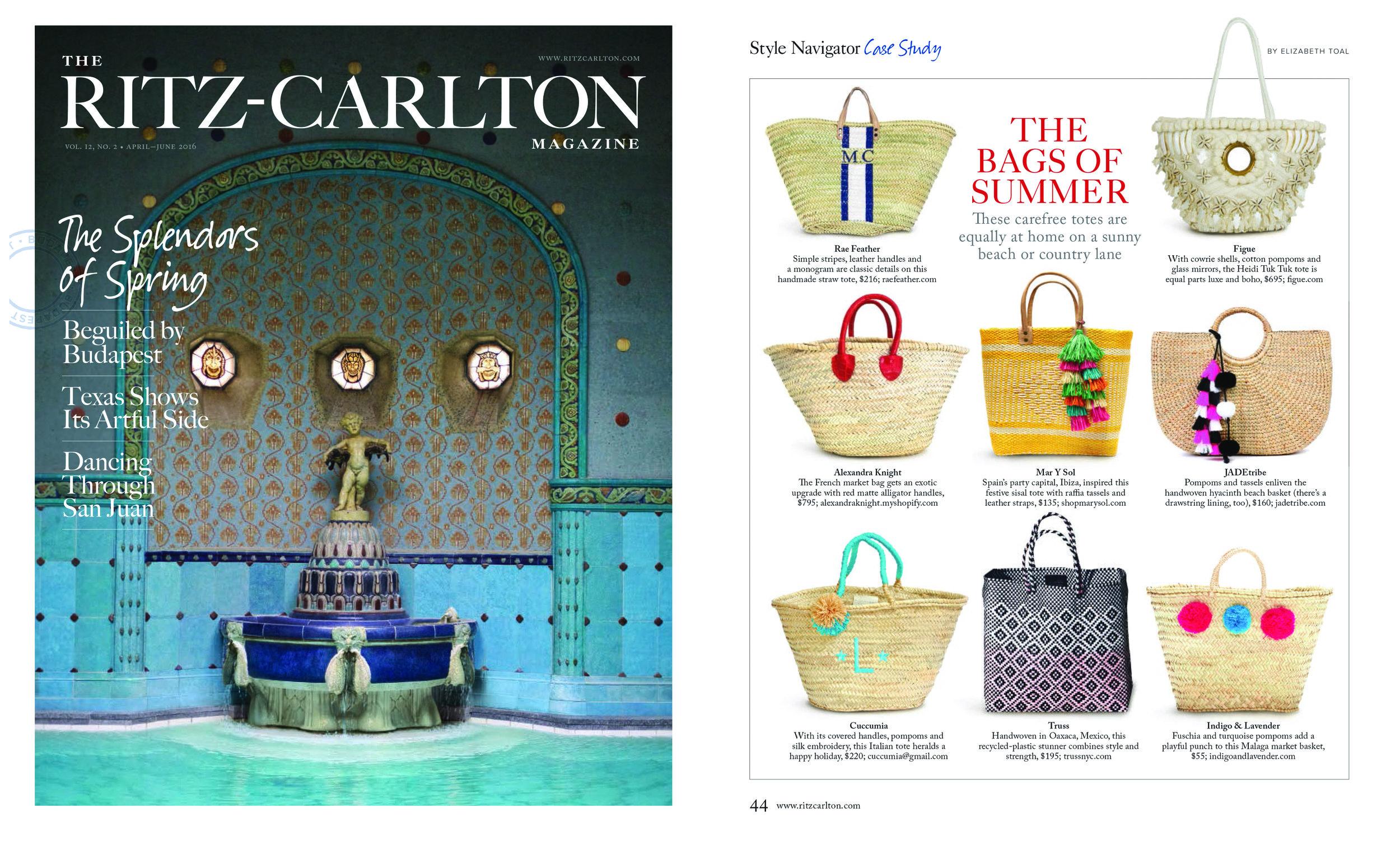 Ritz Carlton Magazine (spring 2016)