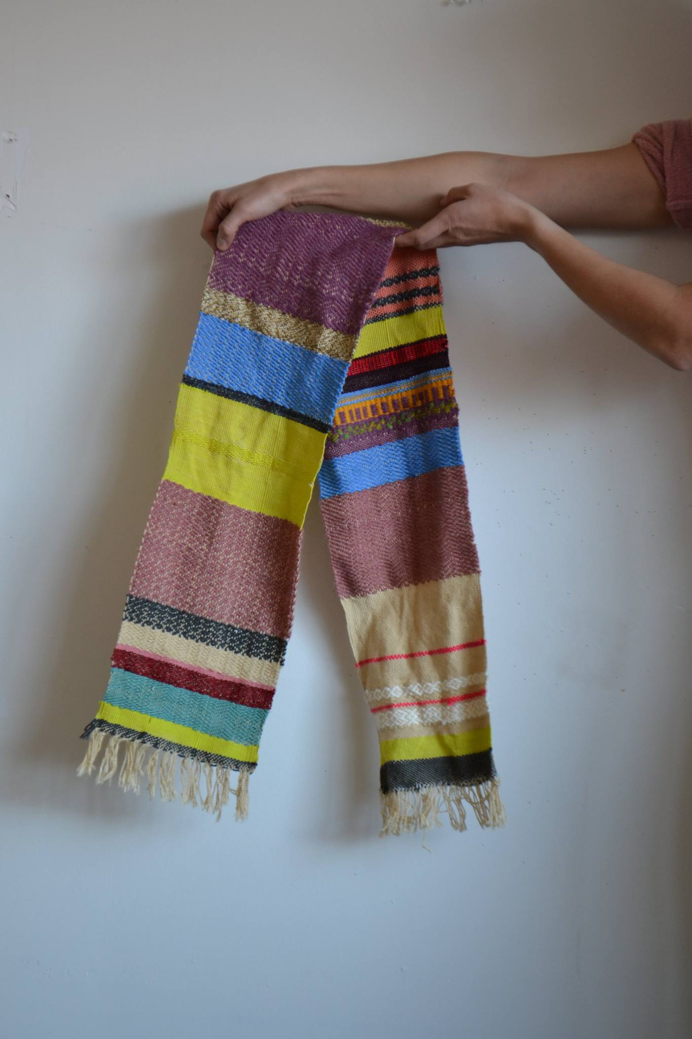 Handmade scarf by Kirksey Lowther