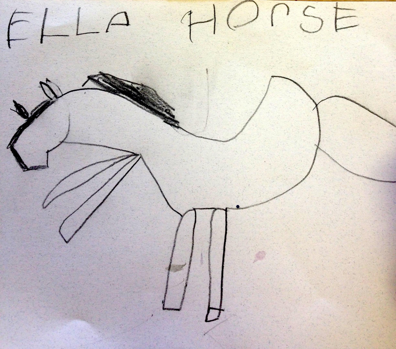 Horse Drawing by Ella Wade Griffin, Kindergarten