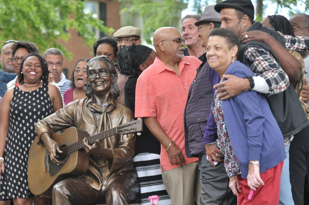 Unveiling May 25th, 2017, at CoMMA. Family, friends, community members and leaders were on-hand for the dedication ceremony. Photo by Justin Epley courtesy of The News Herald