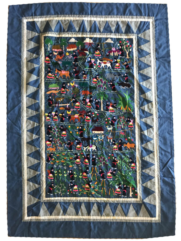 Mia Lao Chang's story cloth, made in Thailand by an unknown refugee, circa 1970