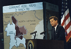 Pres. John F. Kennedy in March 1961. Courtesy The John F. Kennedy Library