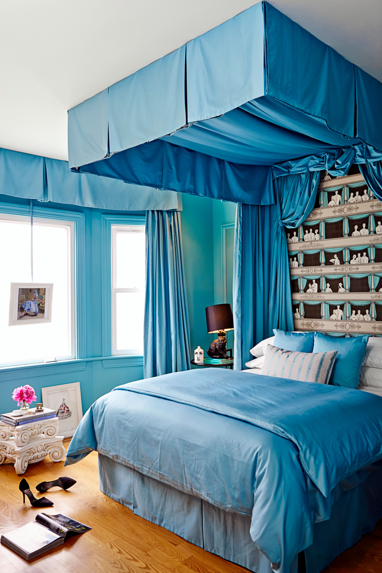 "In the ""Bleu"" room traditional forms meet contemporary icons."