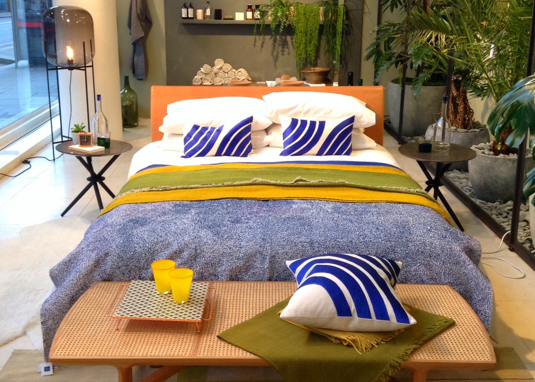 A bed display at the Conran Shop