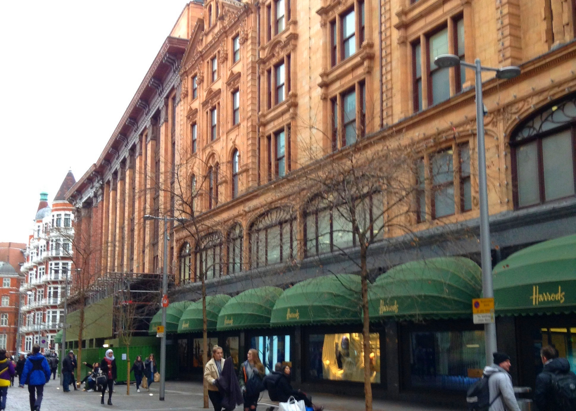 The Side entry to Harrods