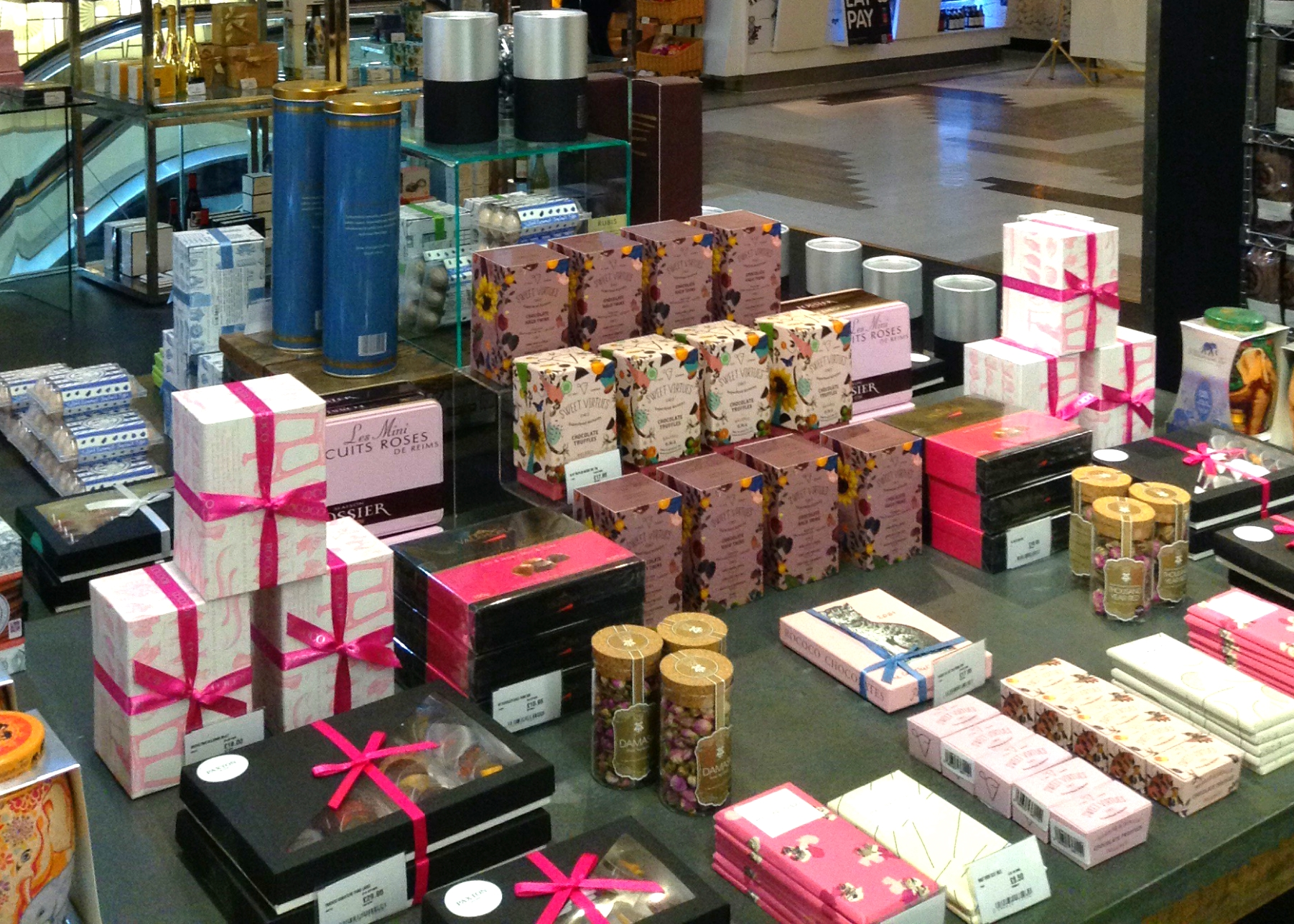 Chocolate Bars at Harvey Nichols