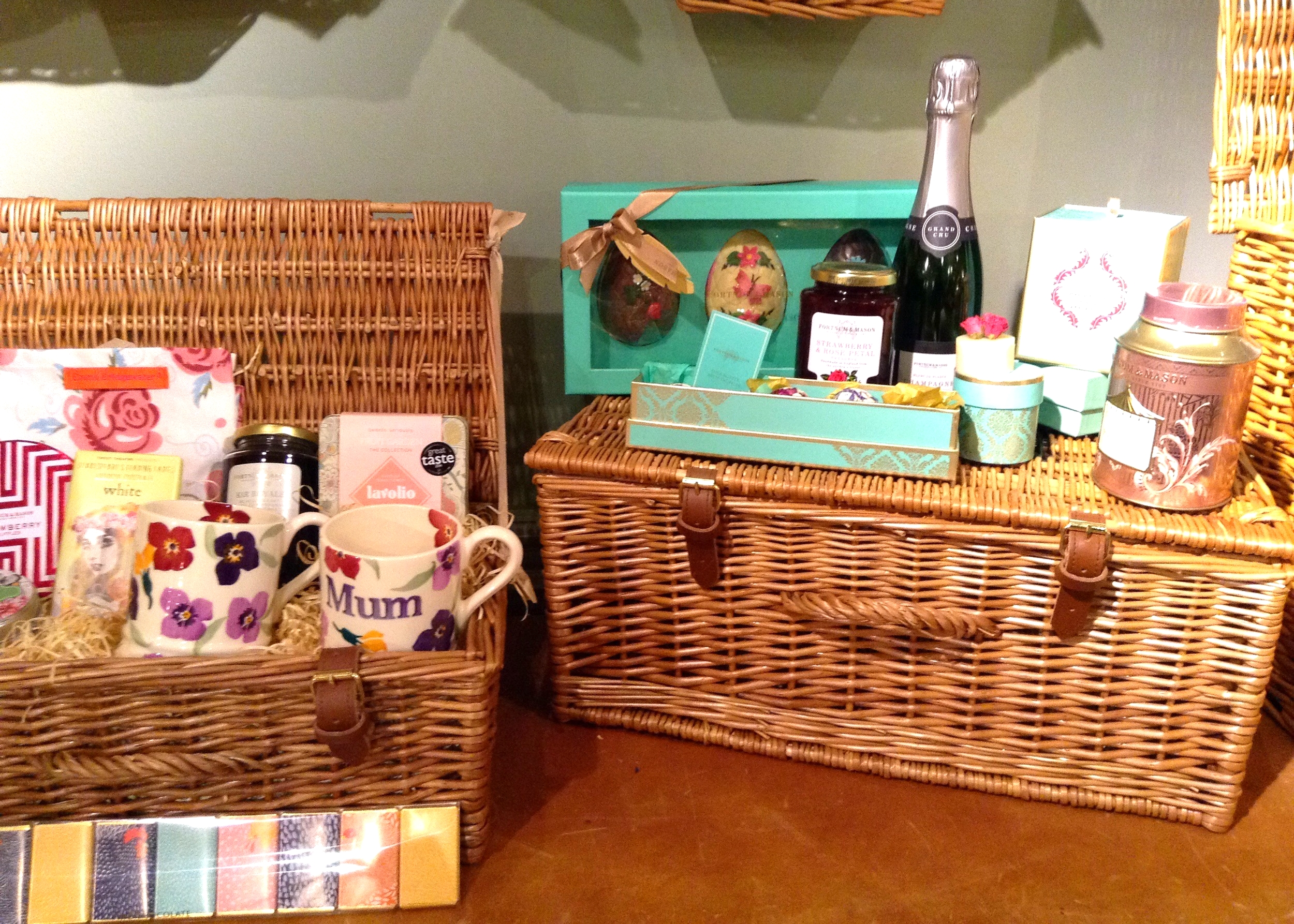 All Hampered Up!! My favorite thing at Fortnum and Mason, a Hamper.