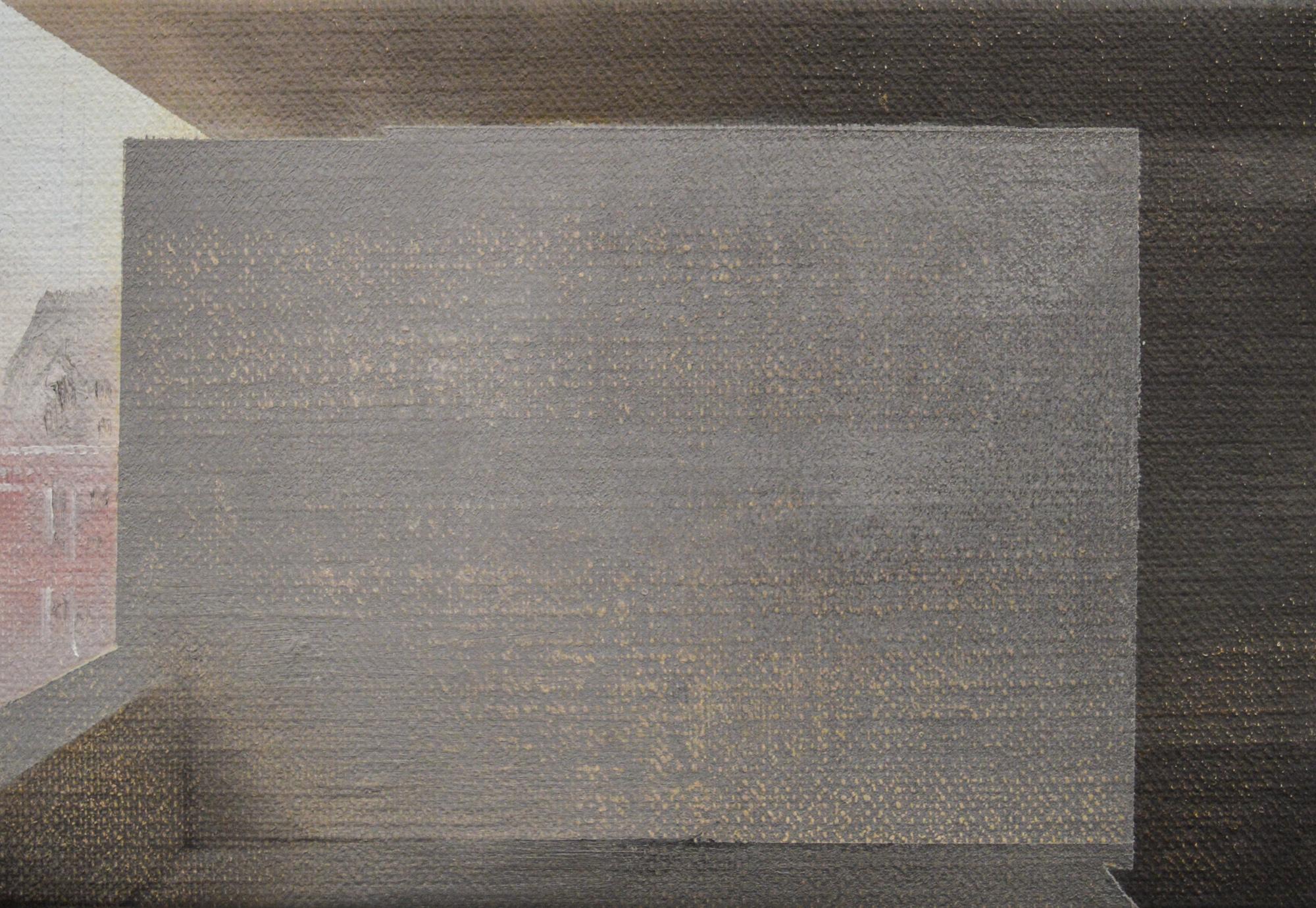 """Andrew Smaldone, """"Studio #2"""",15x23cm Oil on linen , 2014"""