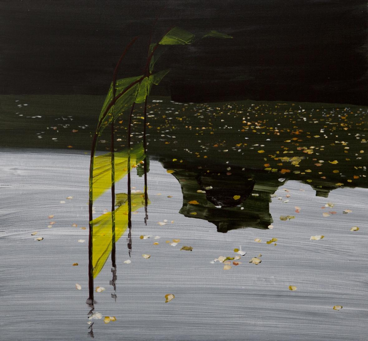 Bends, 72,3x91 cm, smalti su tela, 2012