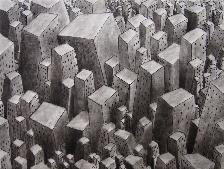 Città Perenne, olio su tela, cm 60 x 80, 2016