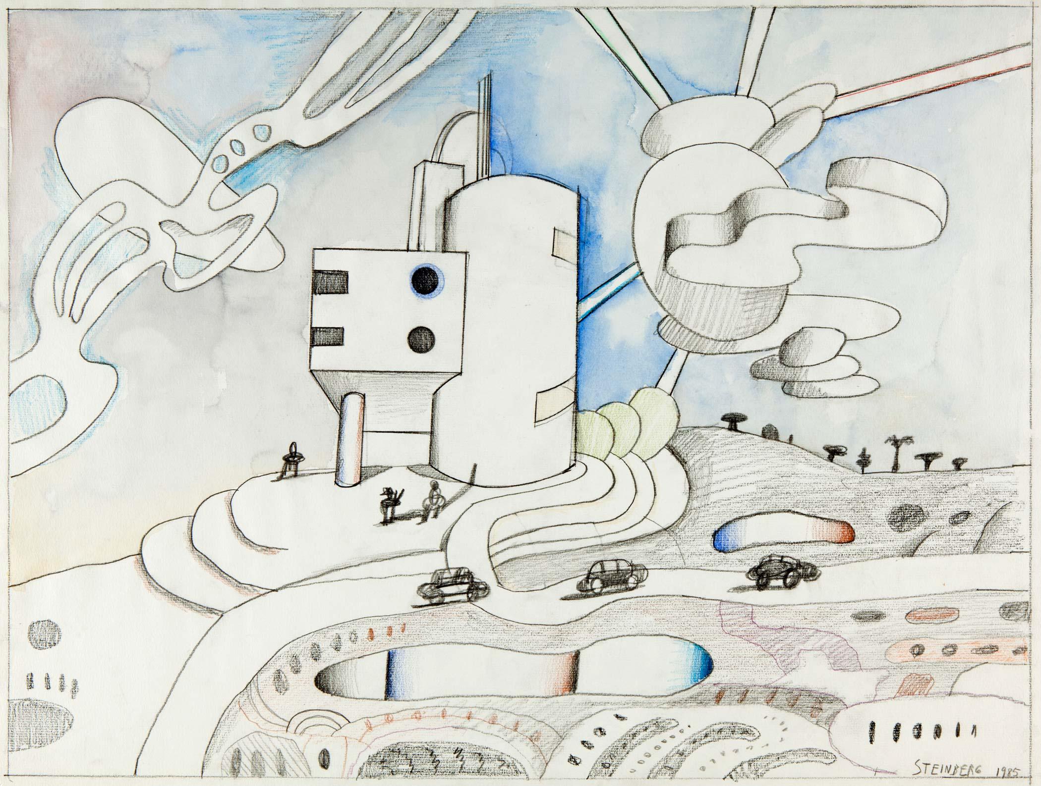 Picasso had trouble with hands and feet. Since I knew all the drawing-board tricks, I was able to leap over the problem of clouds./Picasso aveva problemi a disegnare mani e piedi. Visto che sapevo tutti i trucchi da architetto, potei sorvolare il problema delle nuvole.
