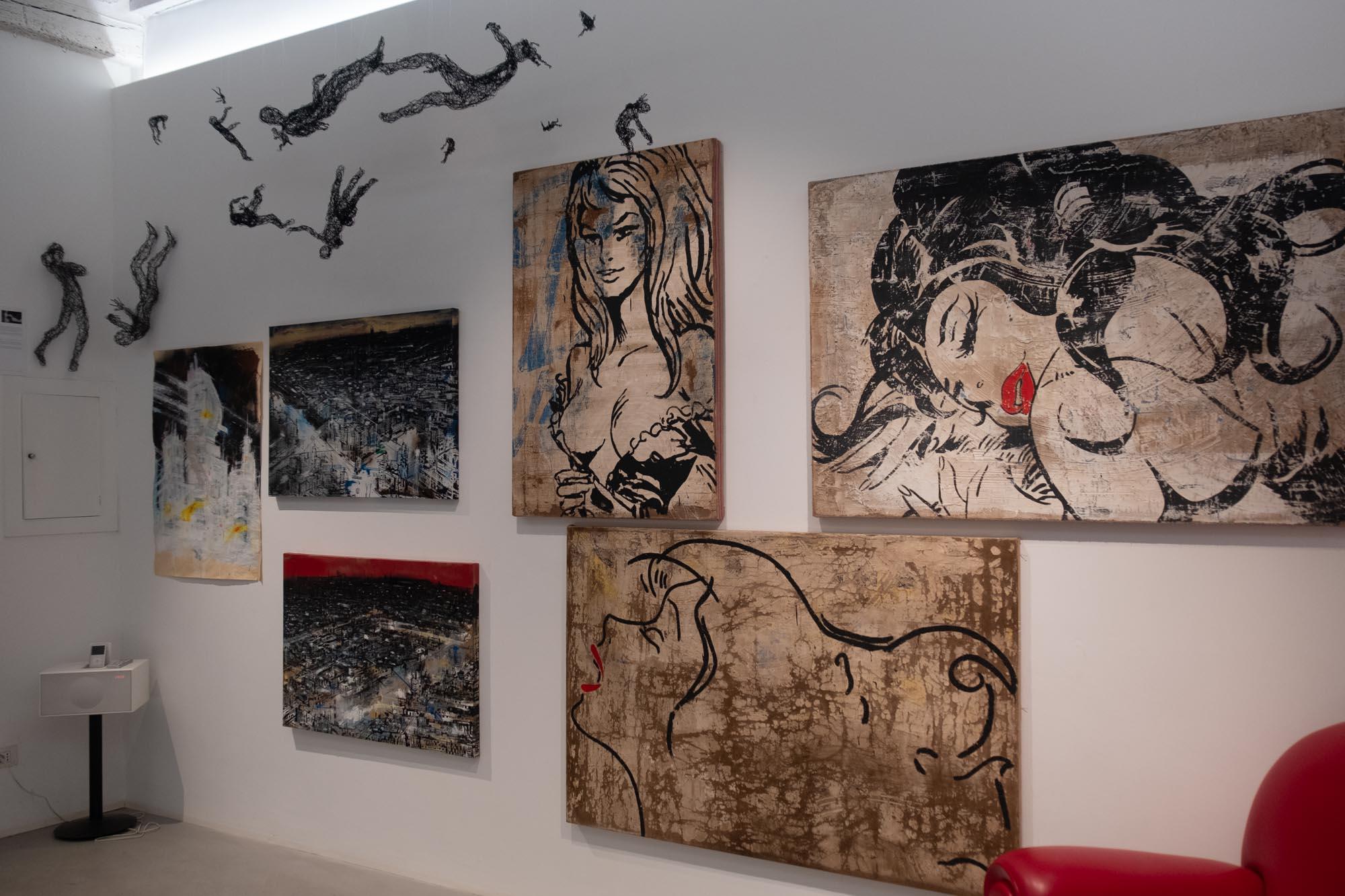 Galleria la Linea fotografata da Carlo Zei