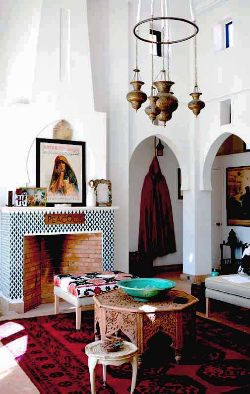 medina salon - Peacock Pavilions | EAT.PRAY.MOVE Yoga Retreat | Marrakesh, Morocco