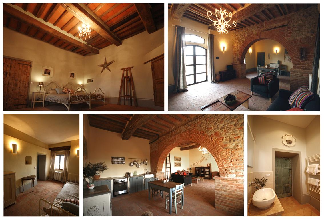 The bedrooms of Siliano Alto EAT.PRAY.MOVE Yoga Retreats | Tuscany, Italy