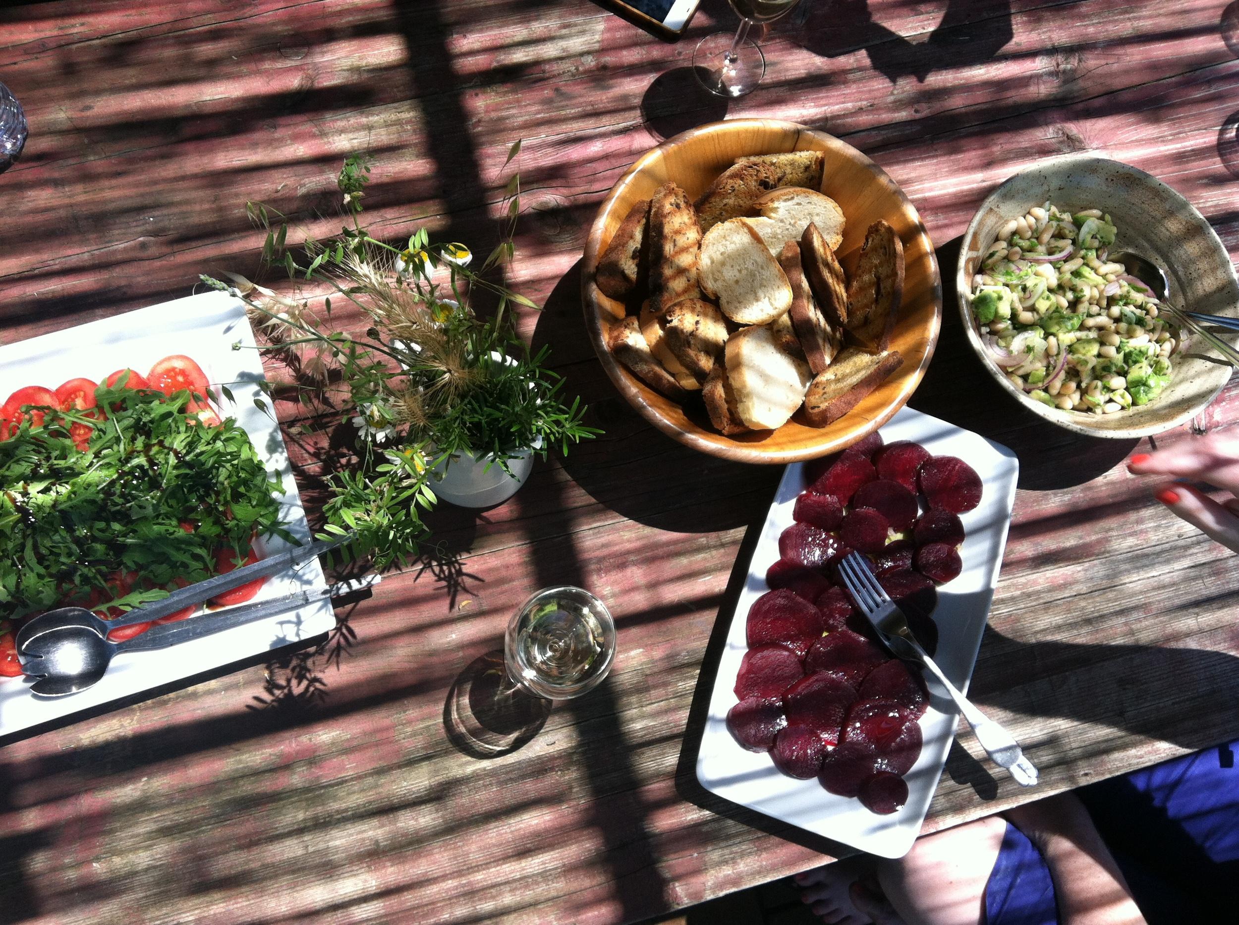 Lunch on the terrace EAT.PRAY.MOVE Yoga Retreats | Tuscany, Italy