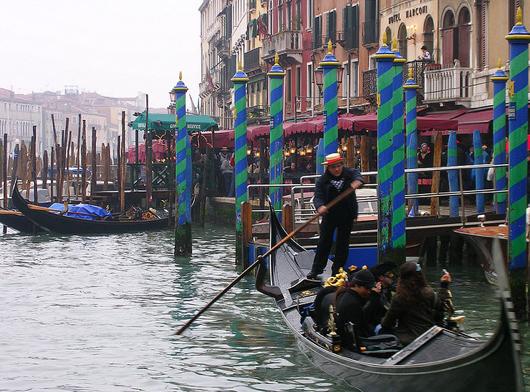 Gondola taking off | EAT.PRAY.MOVE Yoga | Venice, Italy