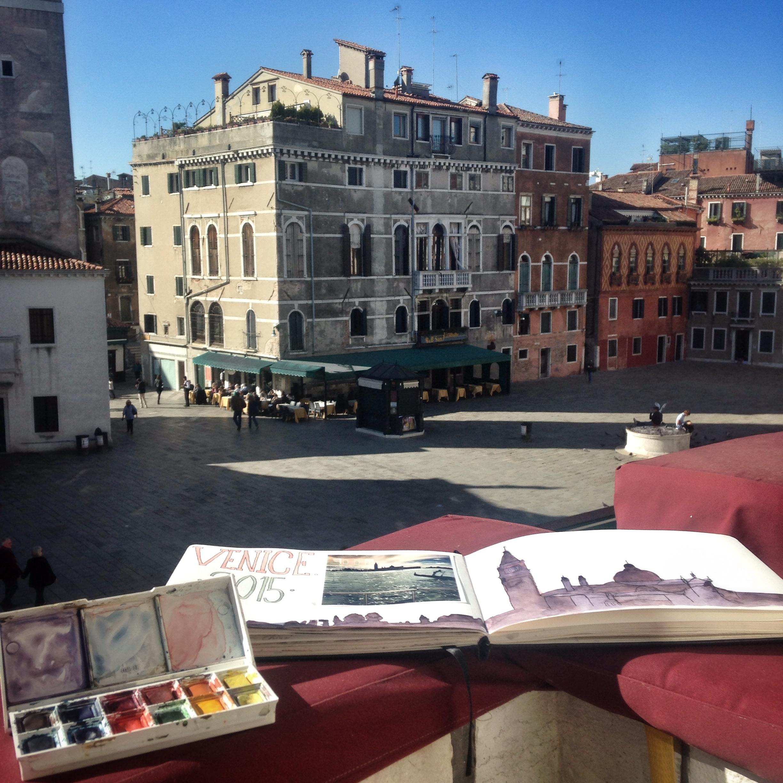 Art on the balcony | EAT.PRAY.MOVE Yoga | Venice, Italy