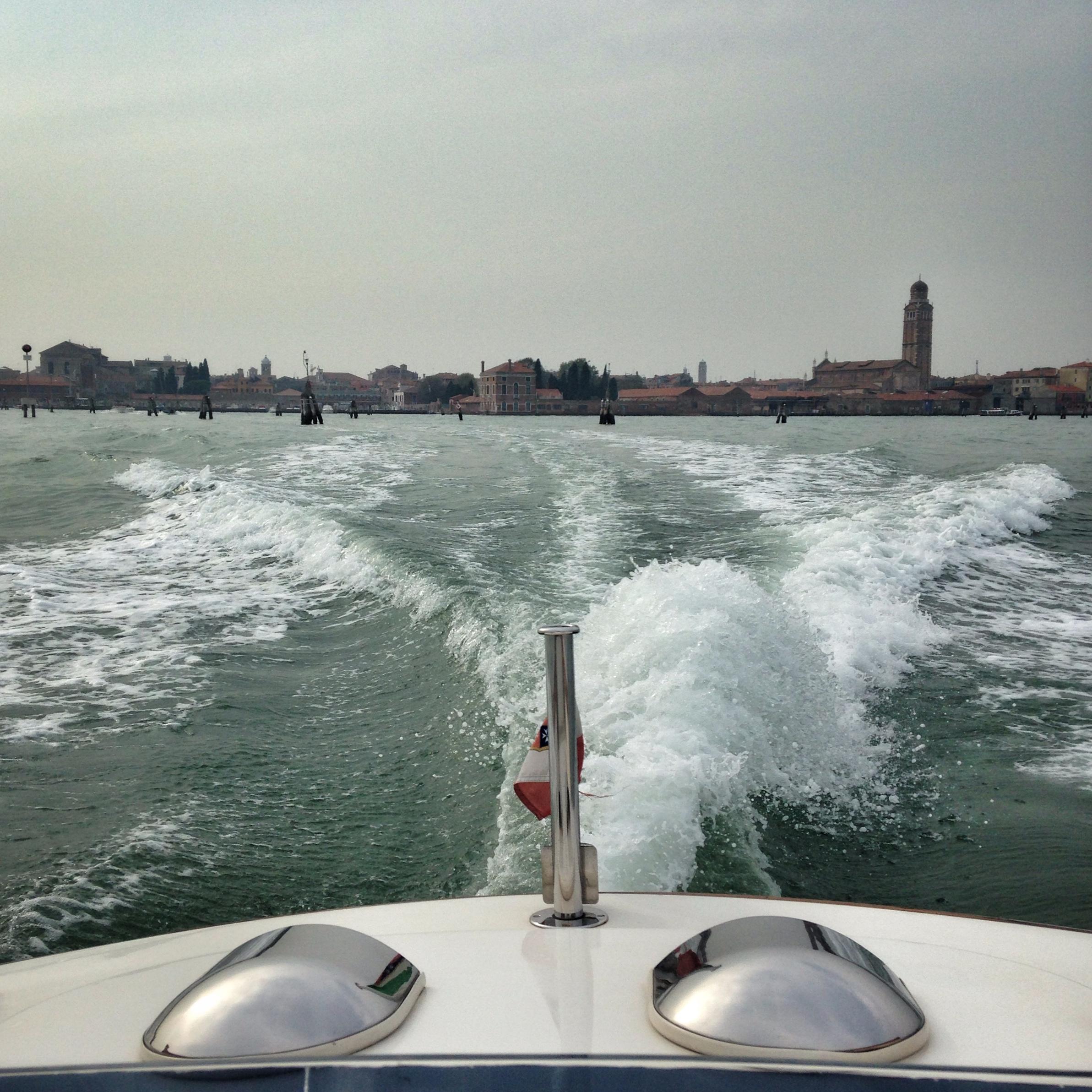 Back of the boat views | EAT.PRAY.MOVE Yoga | Venice, Italy