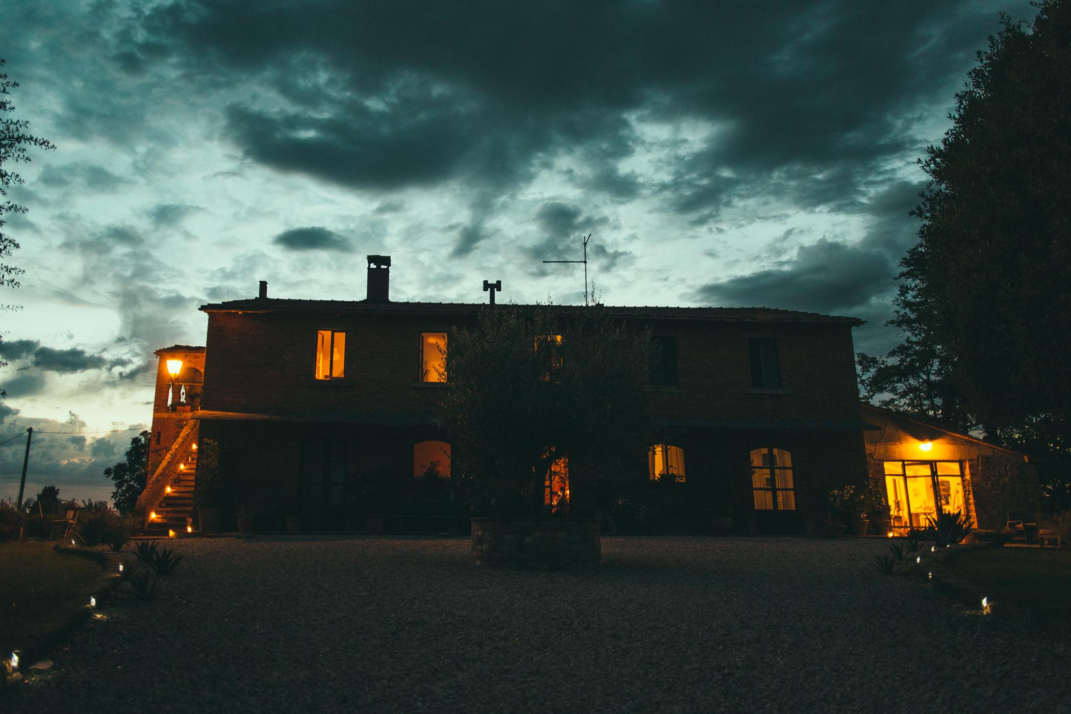 Moody skies over Siliano Alto EAT.PRAY.MOVE Yoga Retreats | Tuscany, Italy