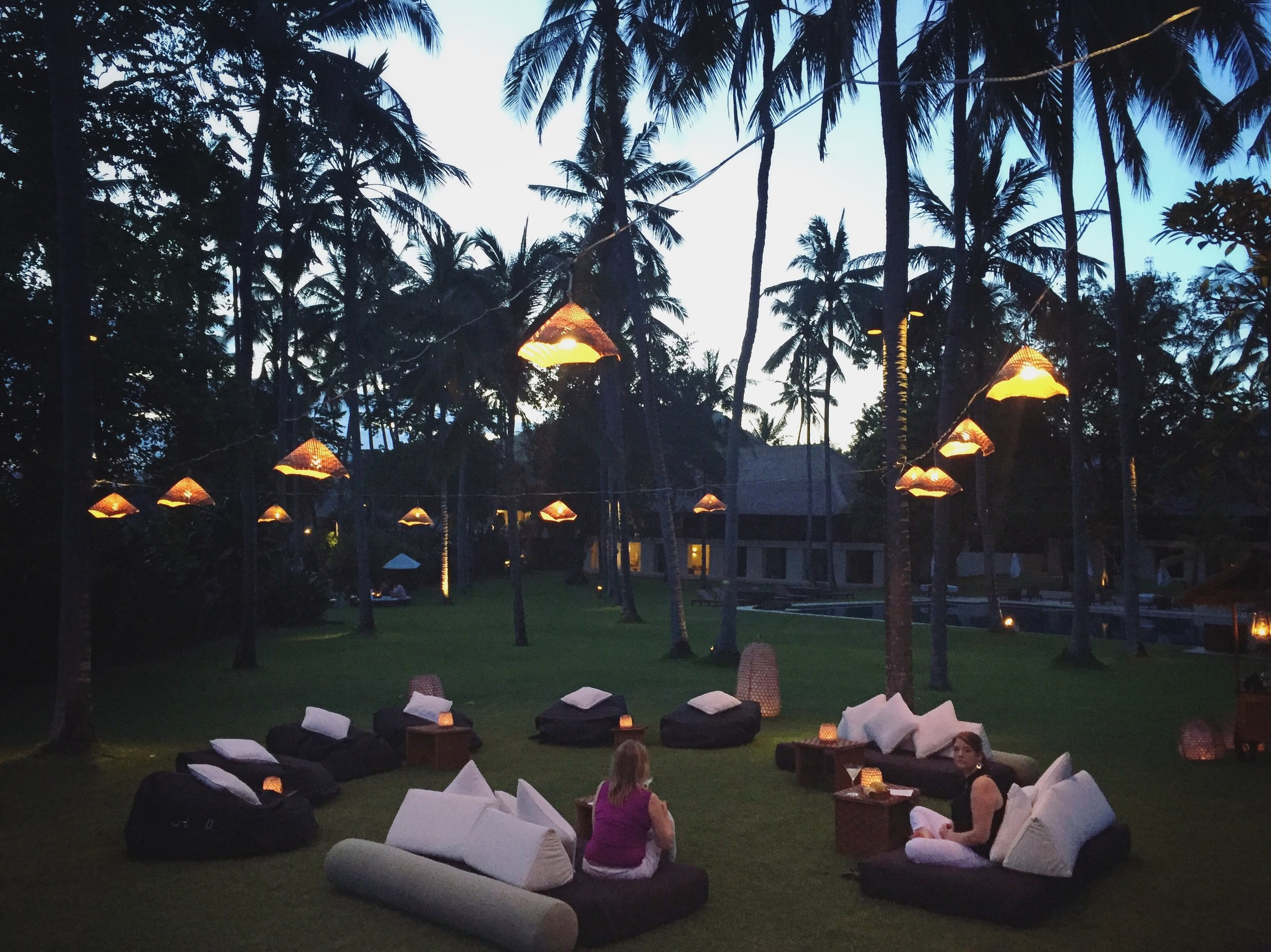 Evening gathering | EAT.PRAY.MOVE Yoga | Bali, Indonesia