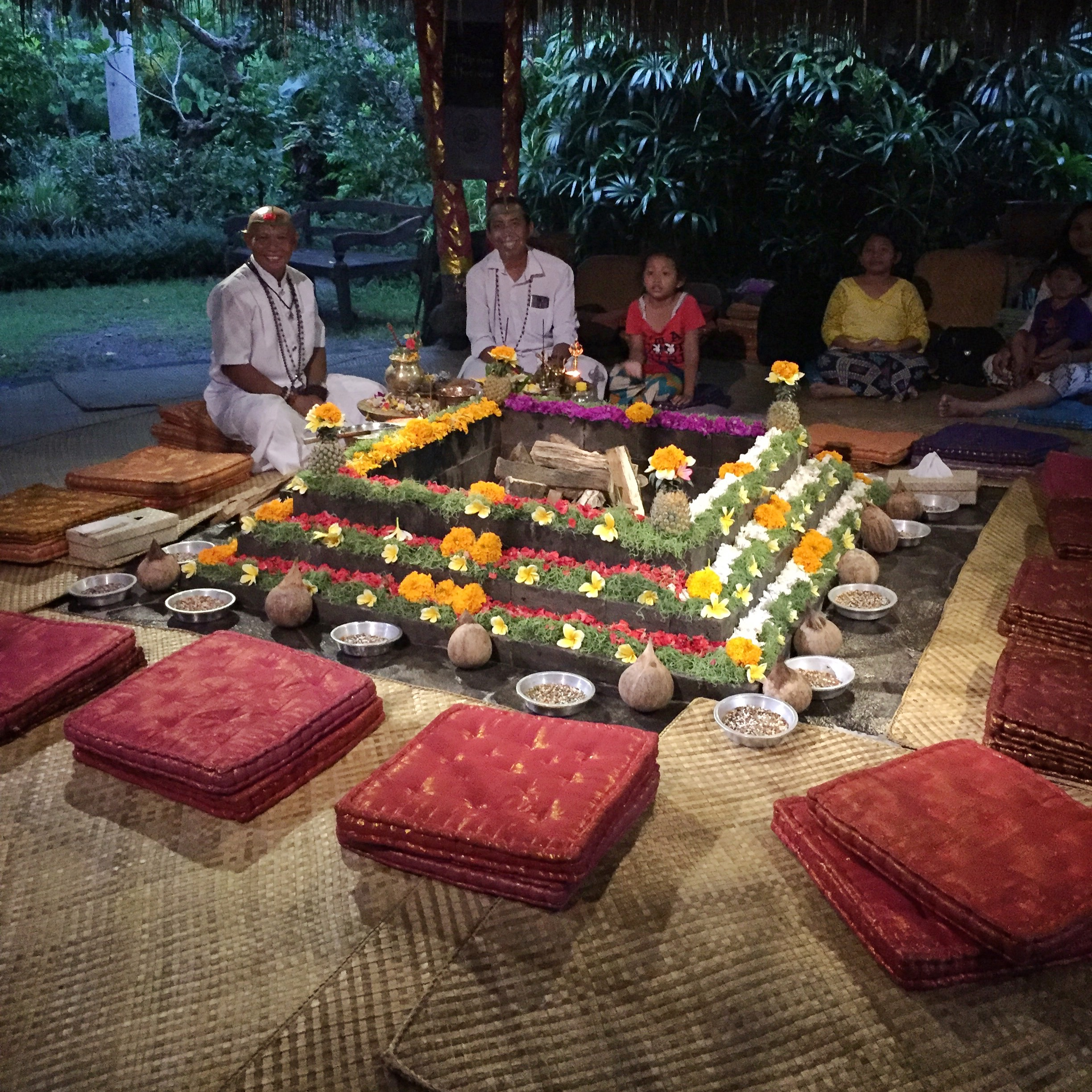 Healing fire ceremony | EAT.PRAY.MOVE Yoga | Bali, Indonesia