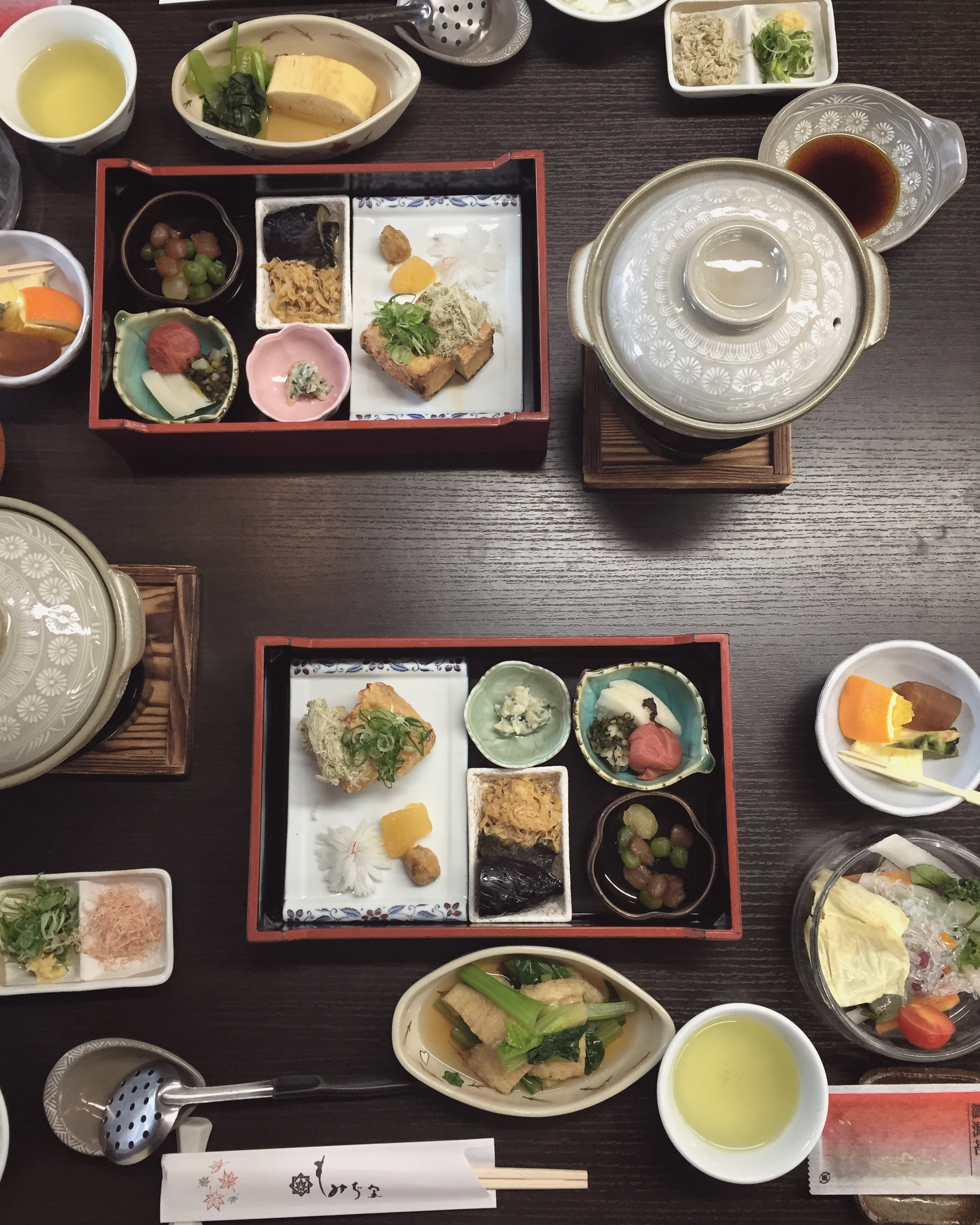 Traditional bento style meals  | EAT.PRAY.MOVE Yoga | Kyoto, Japan