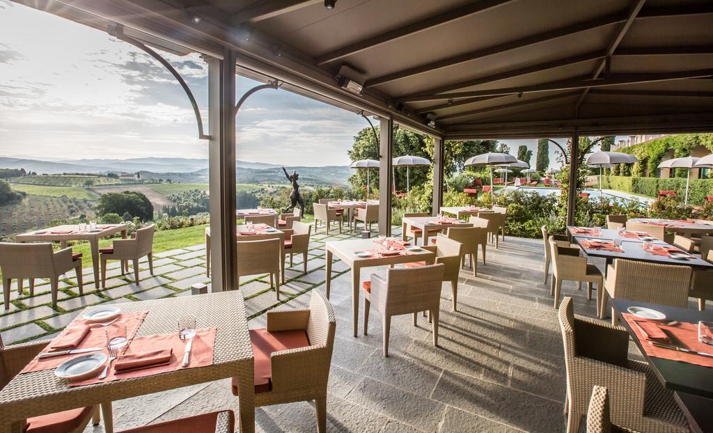 Dining patio Castello del Nero | EAT.PRAY.MOVE Yoga | Chianti, Italy
