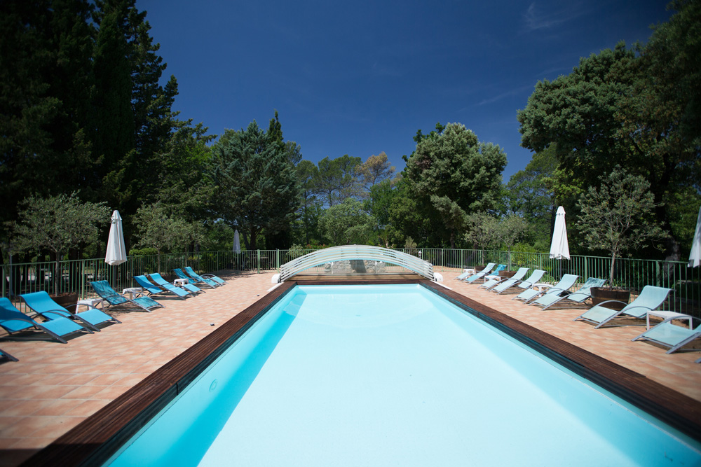The view from the pool house Bastide Avellanne | EAT.PRAY.MOVE Yoga Retreats | Provence, France