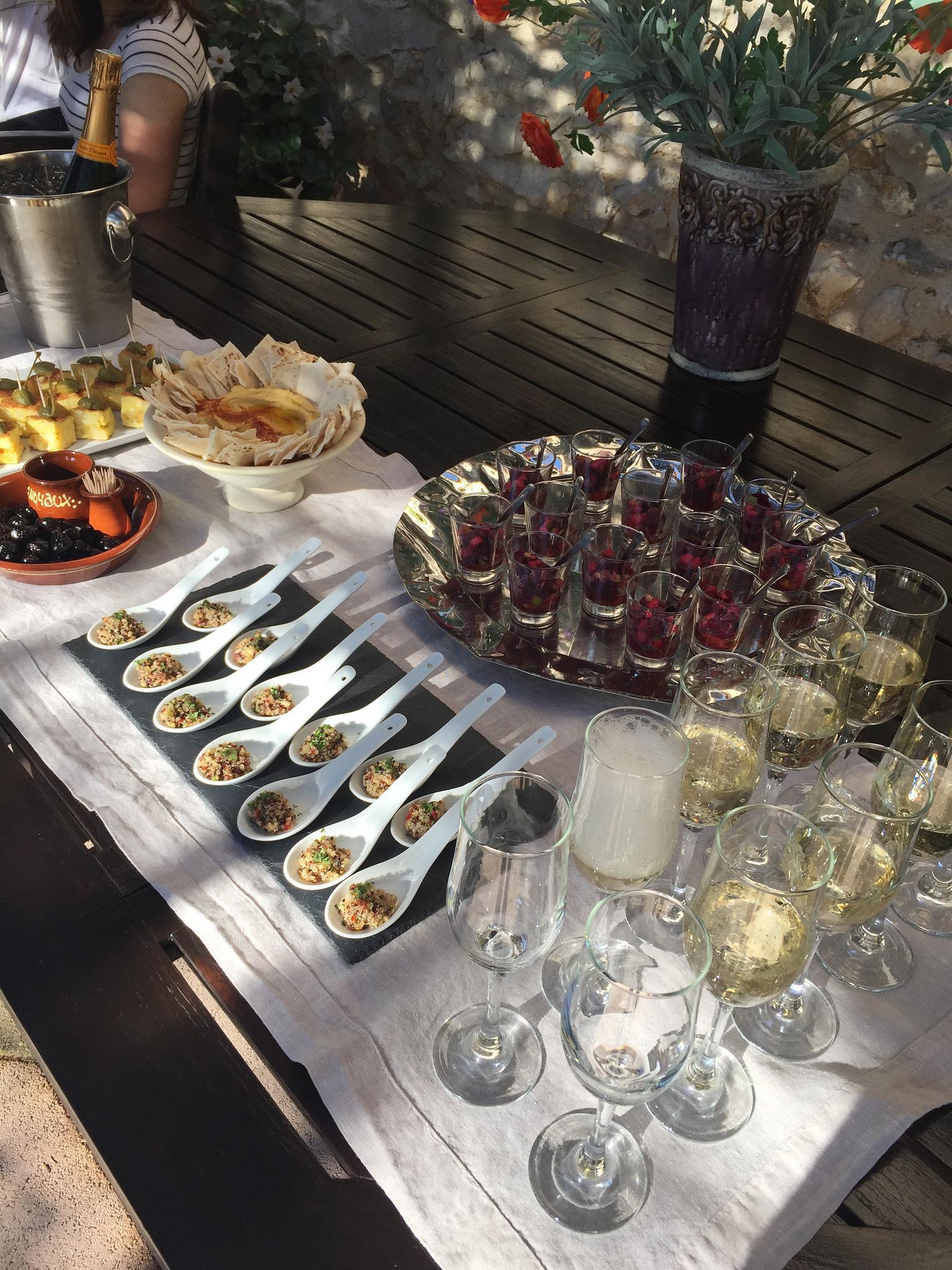 Lunch spread at the Bastide EAT.PRAY.MOVE Yoga Retreats | Provence, France