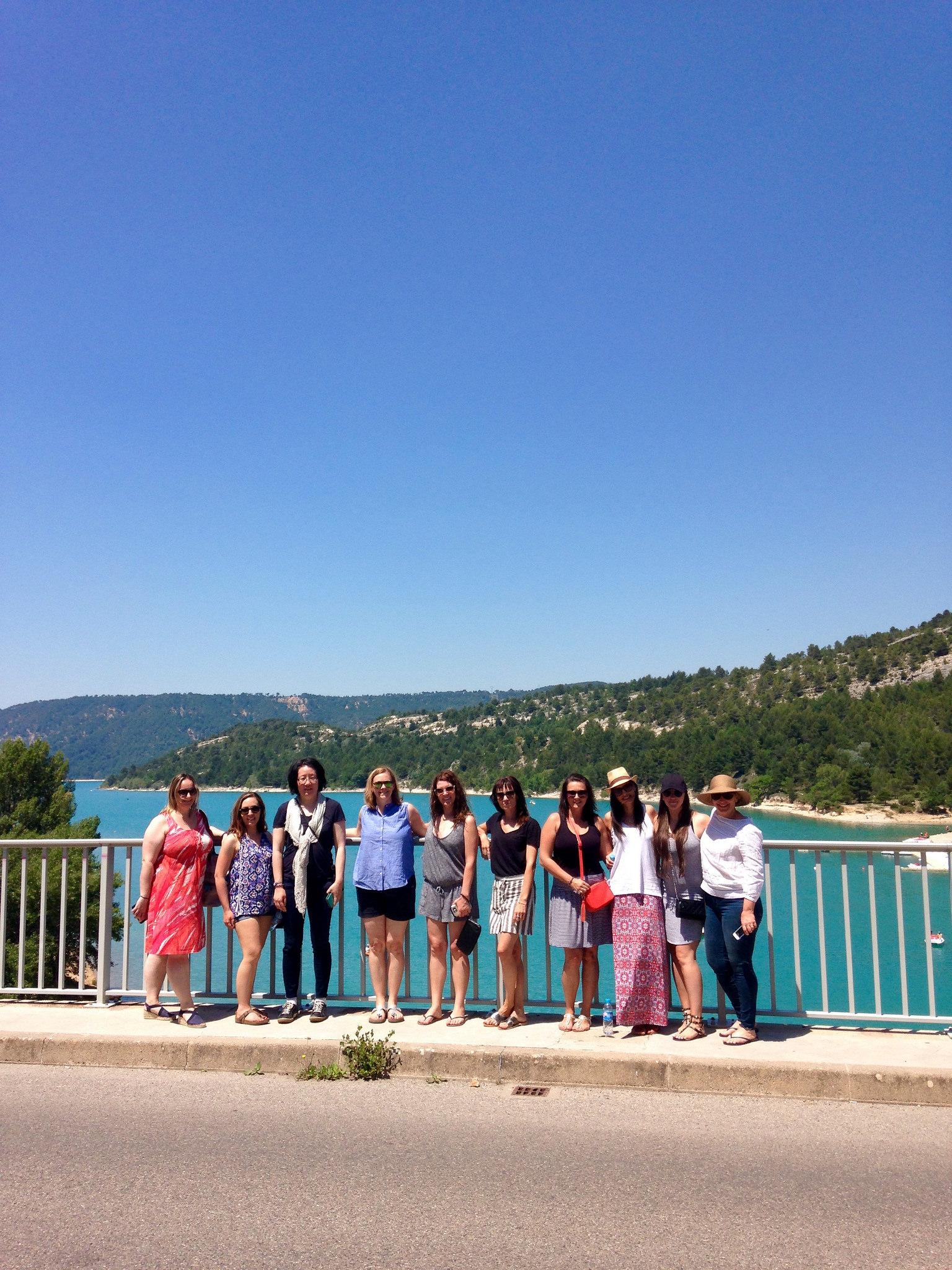 Guests at the Gorges du Verdon EAT.PRAY.MOVE Yoga Retreats | Provence, France