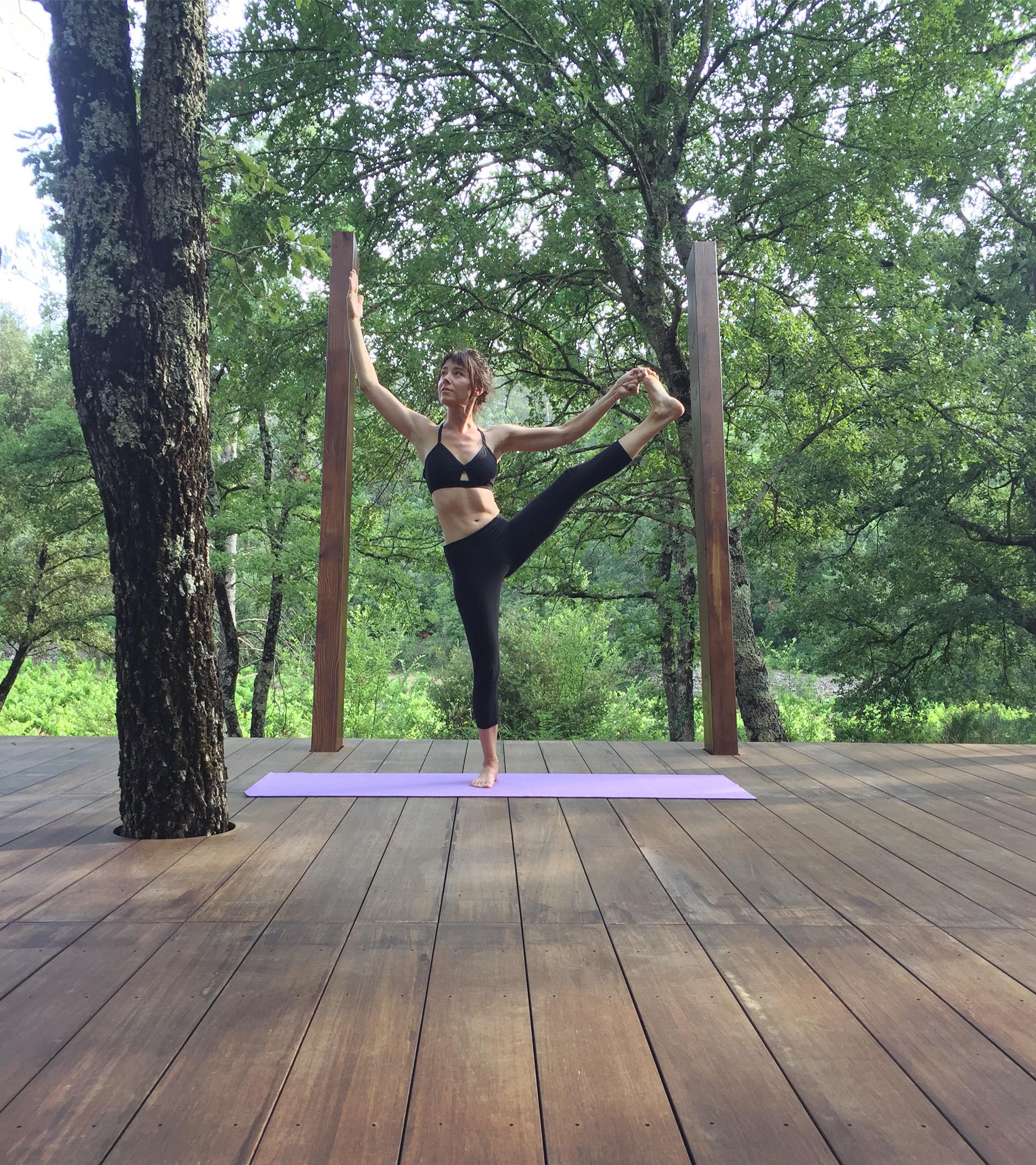 Asana on the yoga deck Bastide Avellanne | EAT.PRAY.MOVE Yoga Retreats | Provence, France