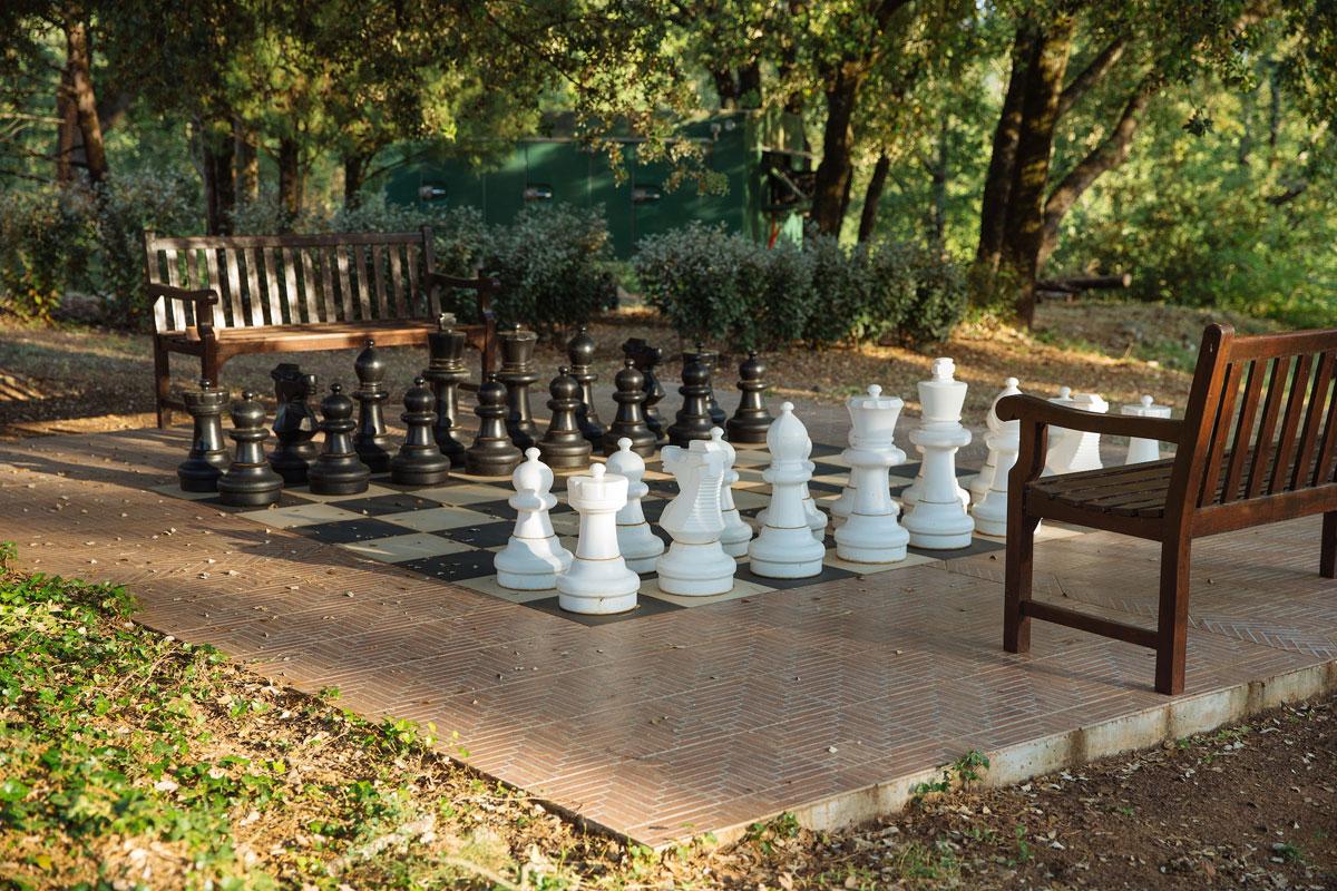 Oversized chess court Bastide Avellanne | EAT.PRAY.MOVE Yoga Retreats | Provence, France