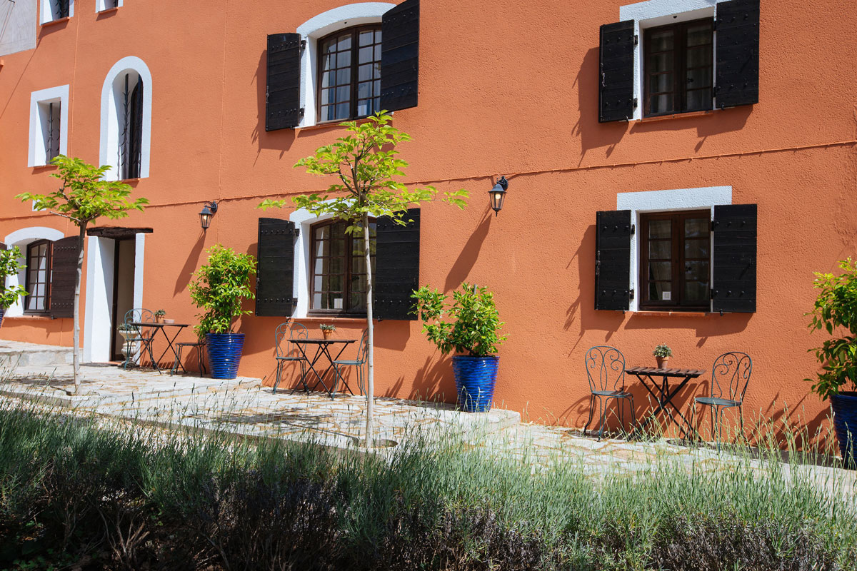 Plant life and lavender outside the guest rooms Bastide Avellanne | EAT.PRAY.MOVE Yoga Retreats | Provence, France