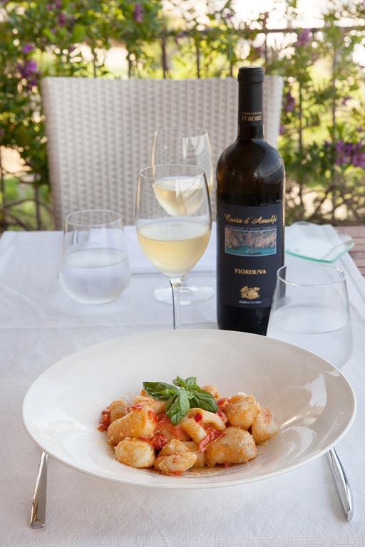Lunch is served at Hotel Margherita EAT.PRAY.MOVE Yoga Retreats | Amalfi Coast, Italy