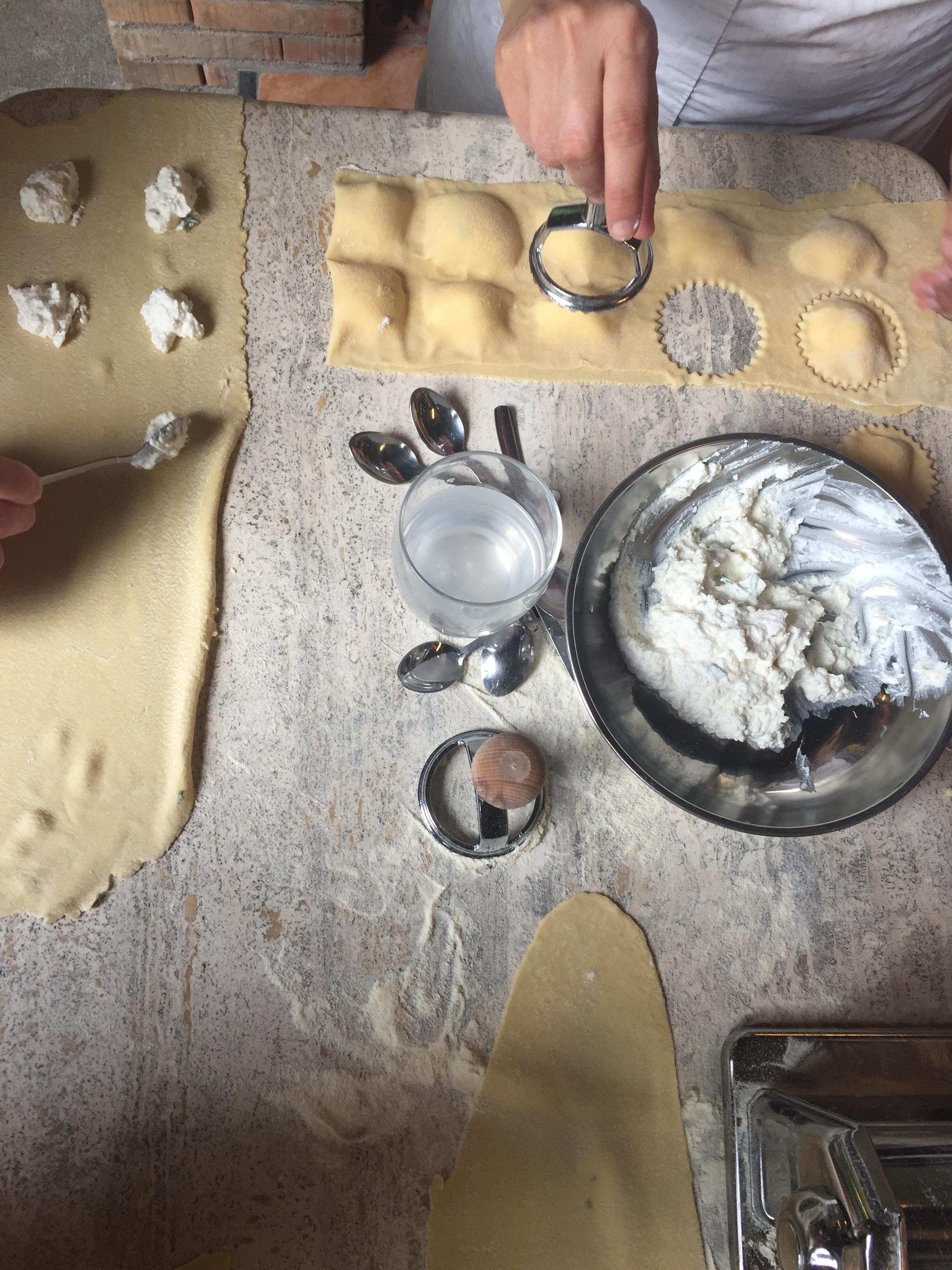 Making ravioli EAT.PRAY.MOVE Yoga Retreats | Amalfi Coast, Italy