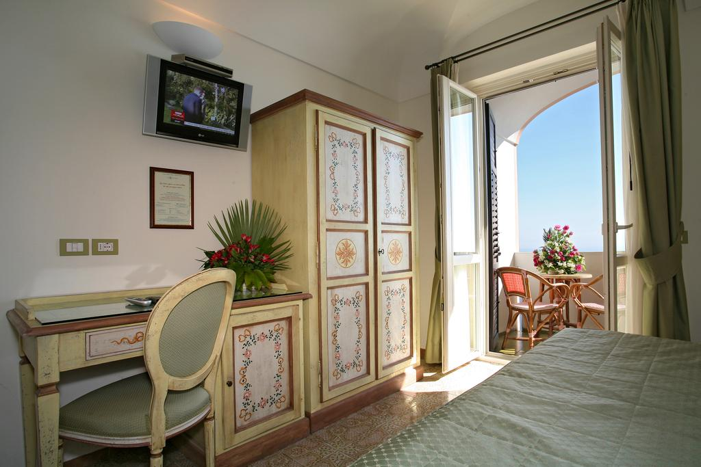 Coastal breeze through the window Hotel Margherita EAT.PRAY.MOVE Yoga Retreats | Amalfi Coast, Italy