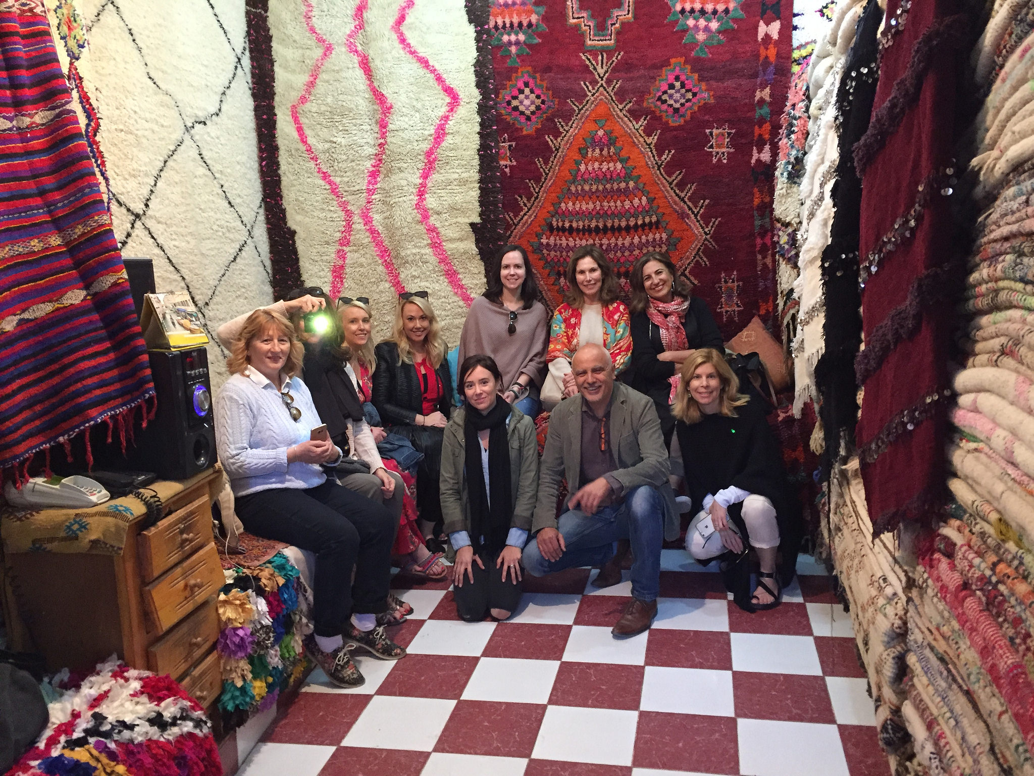 Rug Shop in the Marrakech Souks  | EAT.PRAY.MOVE Yoga Retreat | Marrakesh, Morocco