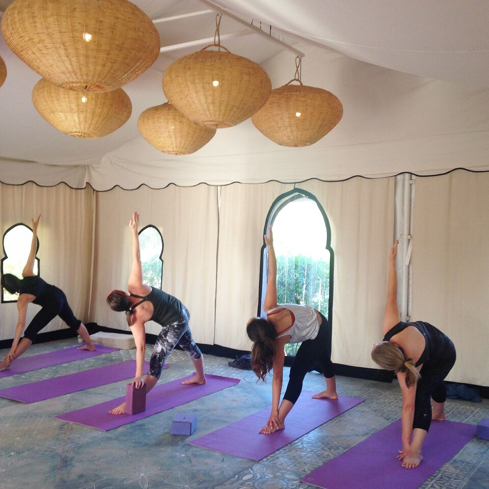 Yoga Class in the Tent Peacock Pavilions  | EAT.PRAY.MOVE Yoga Retreat | Marrakesh, Morocco