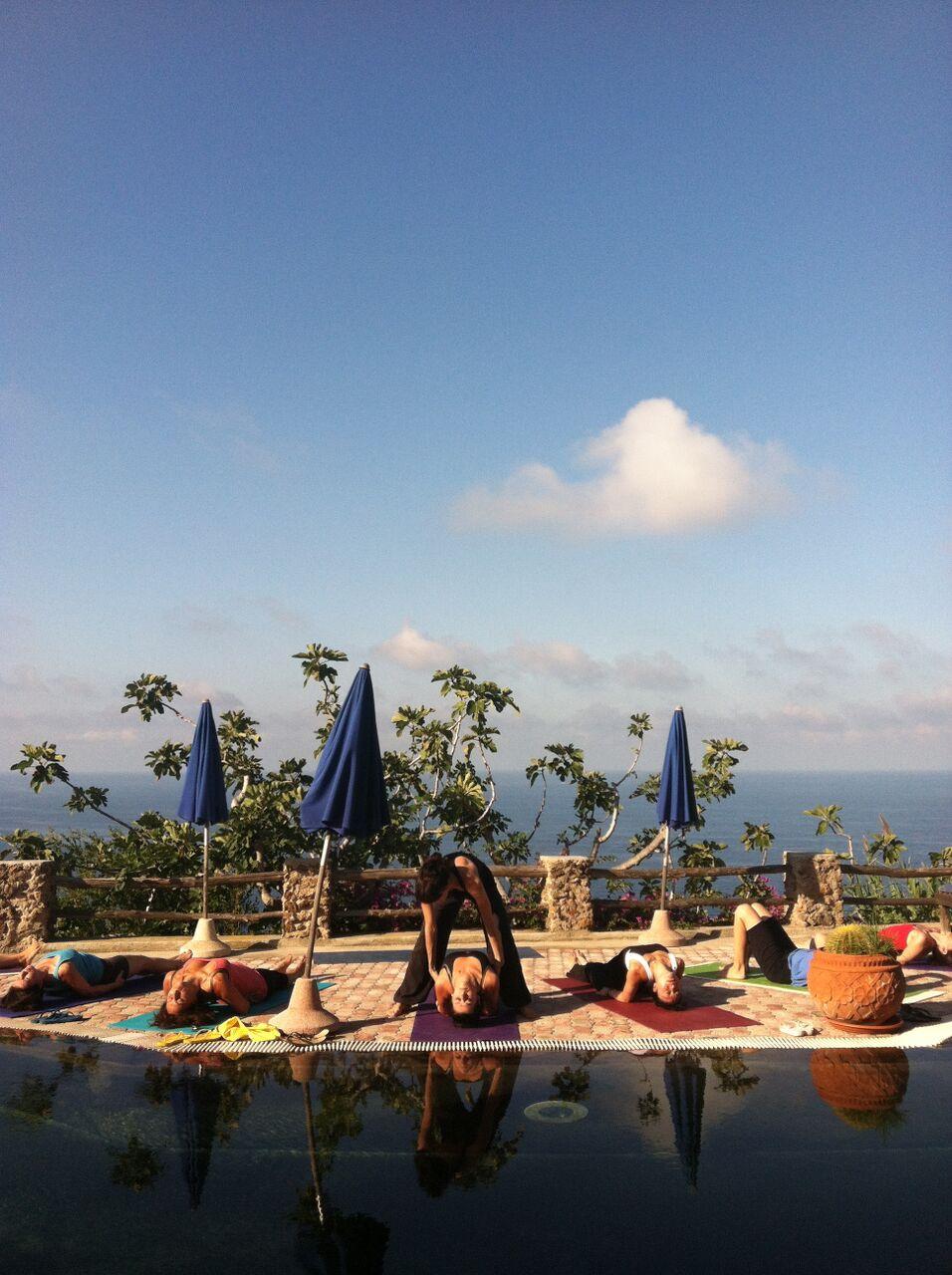 pool side yoga | EAT.PRAY.MOVE Yoga Retreats | Ischia, Italy