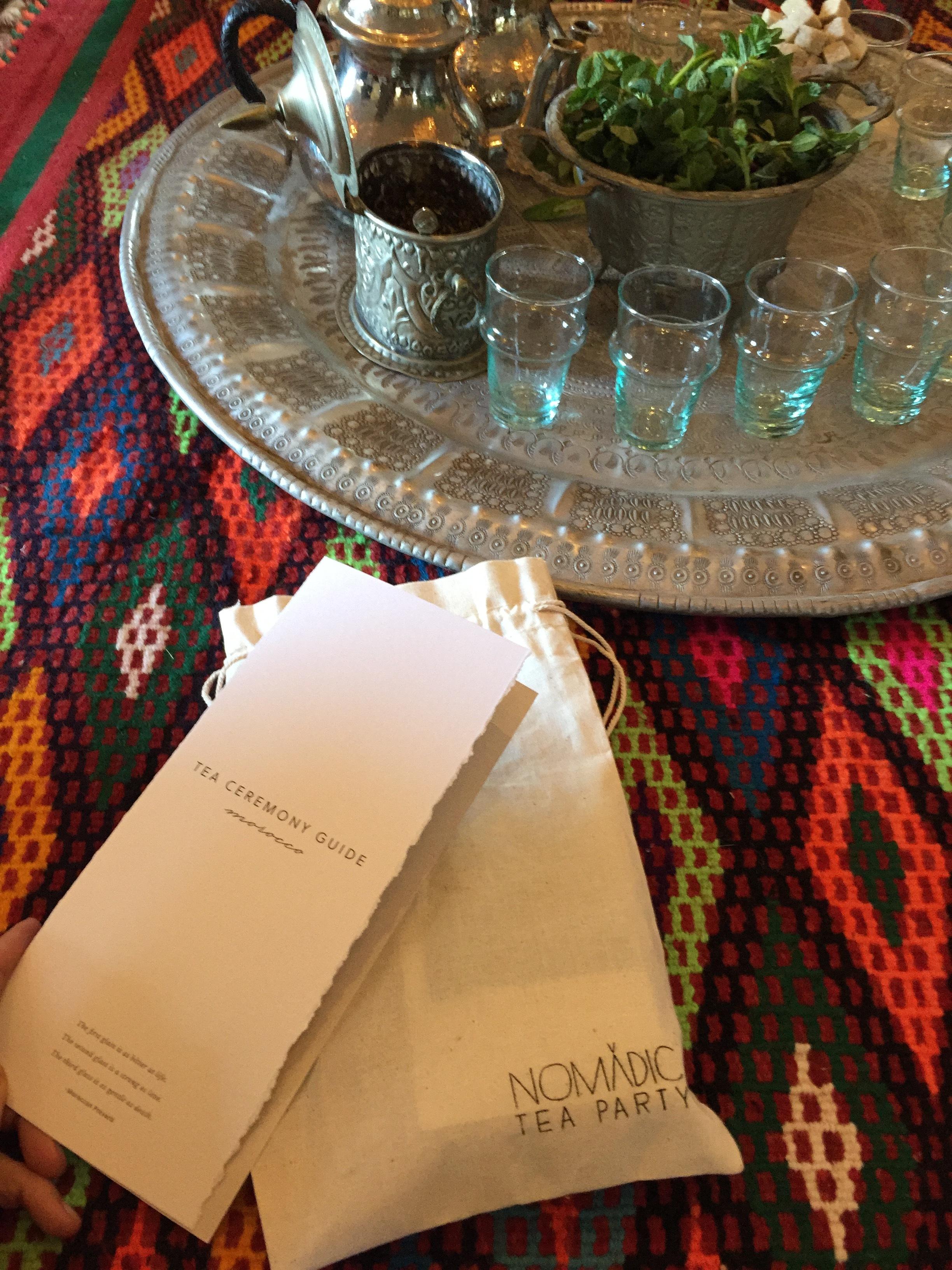 Moroccan mint tea ceremony EAT.PRAY.MOVE Yoga Retreats | Marrakesh, Morocco