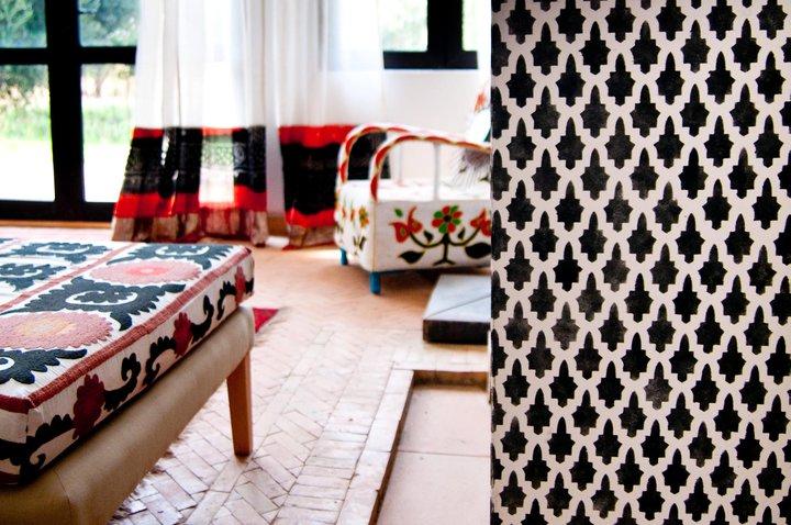 Intricate tile design Peacock Pavilions EAT.PRAY.MOVE Yoga Retreats | Marrakesh, Morocco