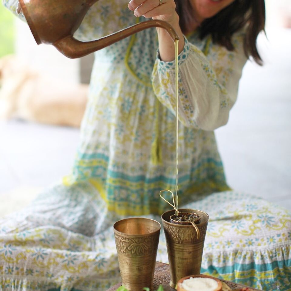 pouring Sarah Scarborough | EAT.PRAY.MOVE Yoga Retreats | Ritual+Renewal
