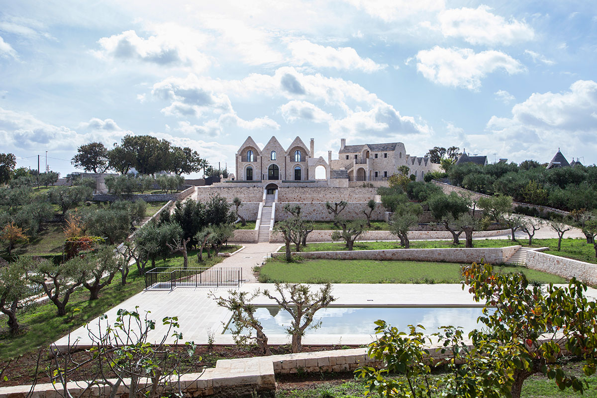 Distant view of Ottolire | EAT.PRAY.MOVE Yoga Retreats | Puglia, Italy