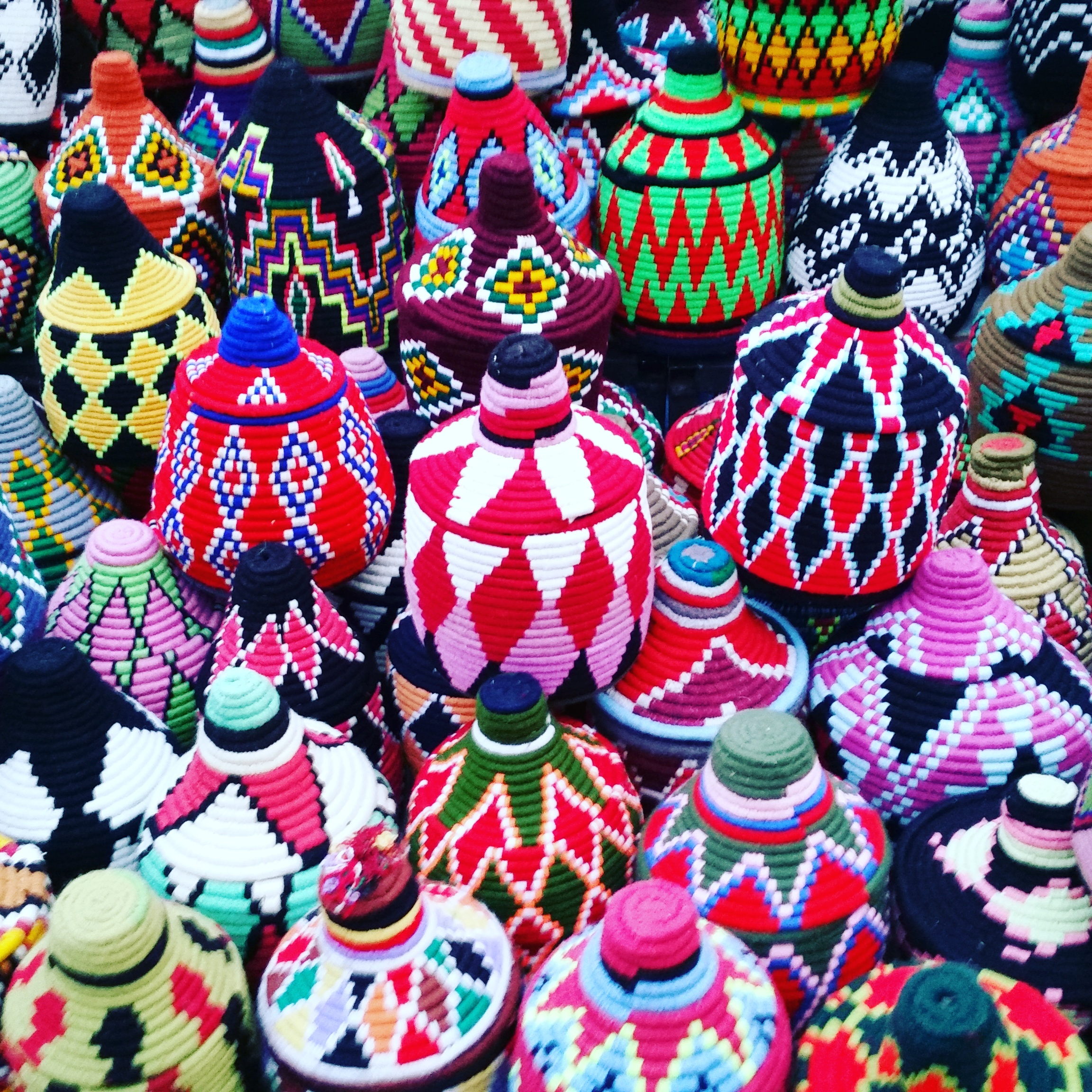 Handmade baskets in Marrakesh