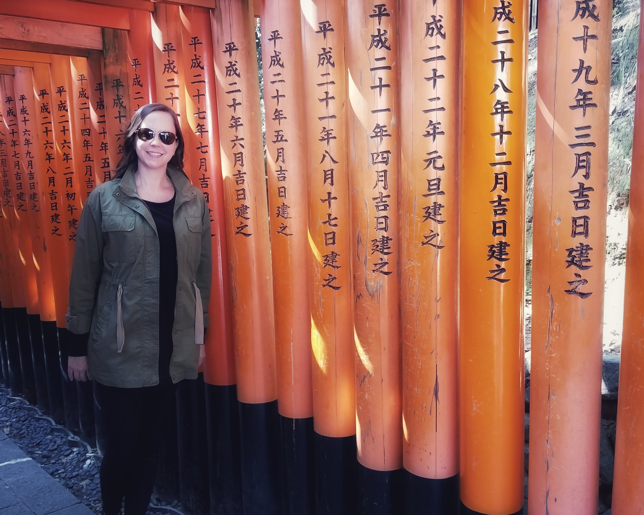At the Torii Gates in Japan